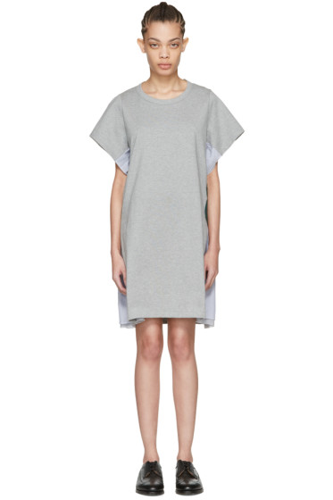 Harikae  - Grey Lace T-Shirt Dress