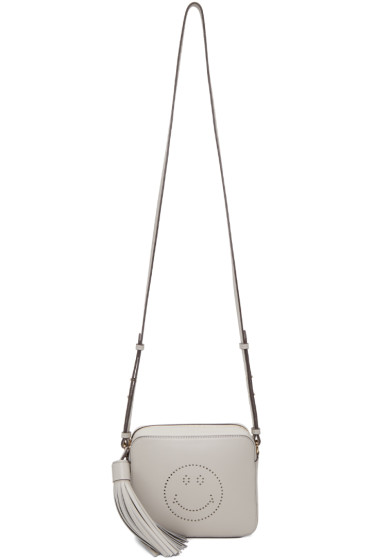 Anya Hindmarch - Grey Leather Smiley Bag