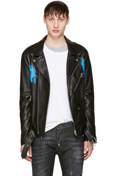 Faith Connexion - Black Leather Brexit Jacket