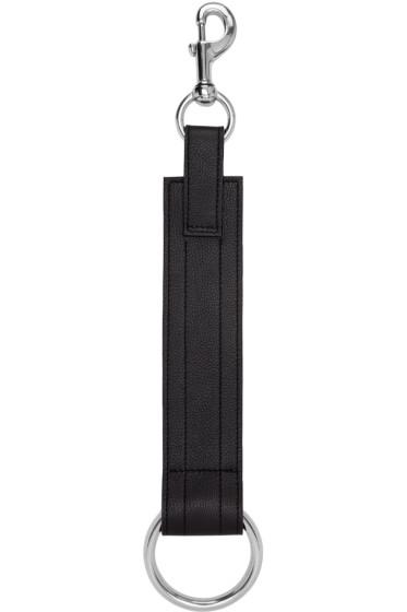 Ribeyron - SSENSE Exclusive Black Leather Ring Chocker