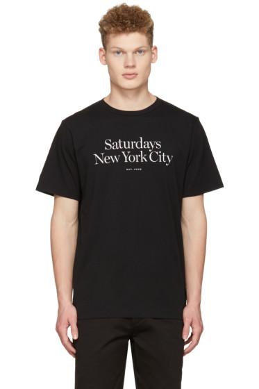Saturdays NYC - Black Miller Standard T-Shirt