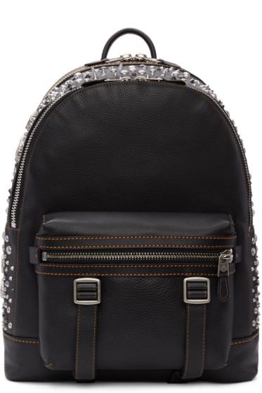 Coach 1941 - Black Studded Flag Backpack