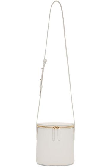 Cuero&Mor - White Mini Bucket Bag