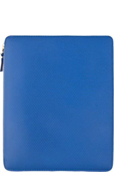 Comme des Garçons Wallets - Blue Leather iPad Case