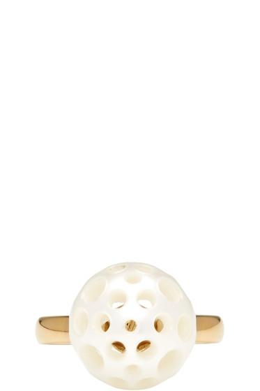 Melanie Georgacopoulos - Gold Drilled Pearl Tasaki Edition Ring