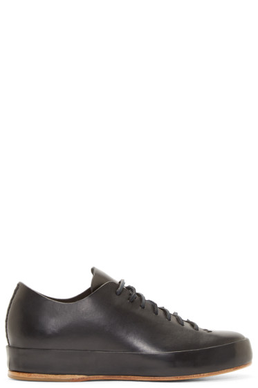 Feit - Black Leather Low-Top Sneakers