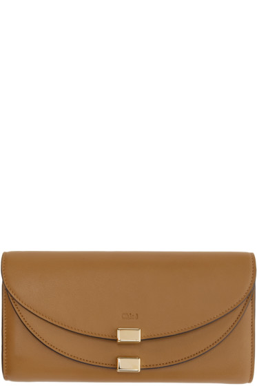 Chloé - Brown Long Georgia Wallet