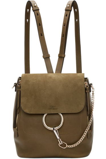 Chloé - Khaki Medium Faye Backpack