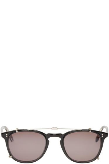 Garrett Leight - Black Clip-On Kinney Optical Glasses