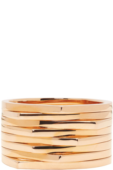Repossi - Rose Gold 8 Rows Antifer Ring