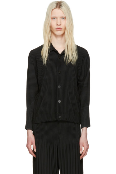 Homme Plissé Issey Miyake - Black Pleated Shirt