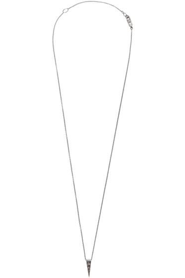 Eva Fehren - Blackened Gold Diamond Sabre Pendant