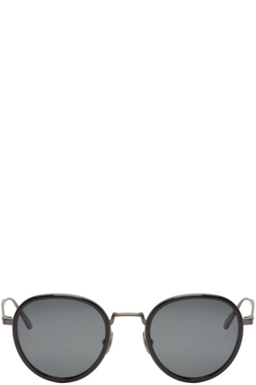 Bottega Veneta - Black Round Retro Sunglasses