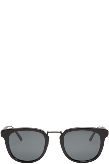 Bottega Veneta - Black Square Retro Sunglasses