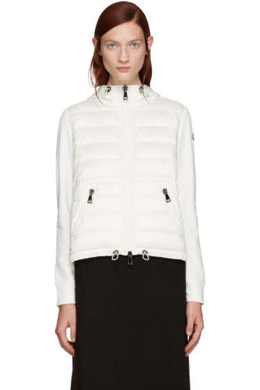 Moncler - Ivory Down Panel Hoodie