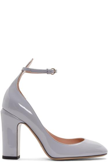 Valentino - Grey Tango Mary Jane Heels