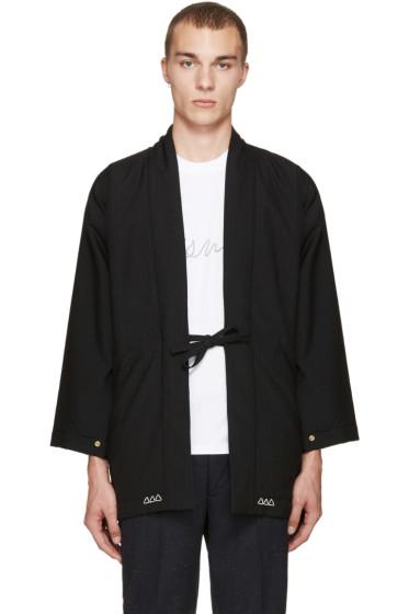 Visvim - Black Wool Dotera Coat