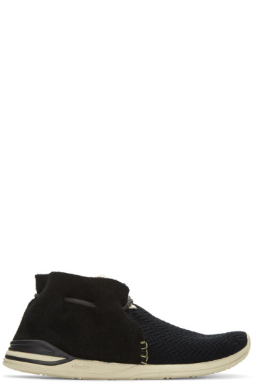 Visvim - ブラック ヒューロン メッシュ モックフォーク スニーカー