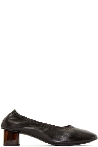 Robert Clergerie - Black Leather Pocket Heels