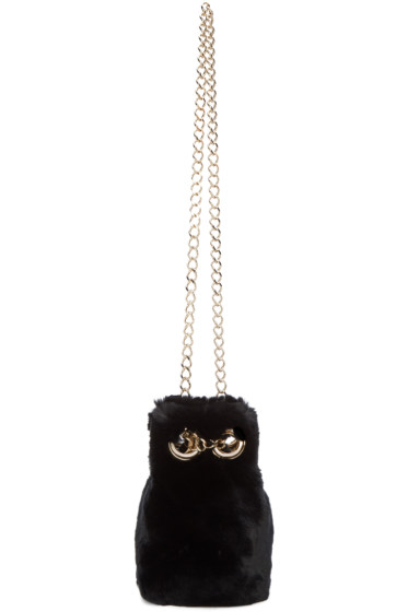 Yves Salomon - Black Fur Bucket Bag