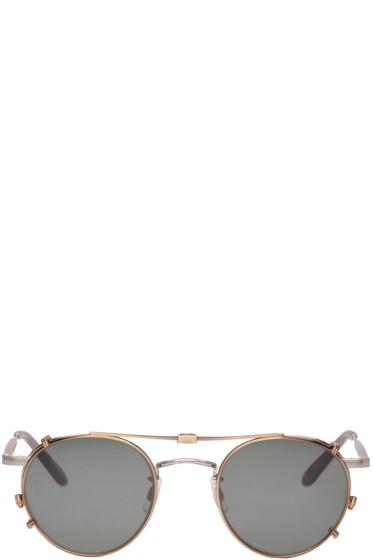 Garrett Leight - Silver Clip-On Wilson M Sunglasses