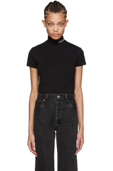 Vetements - SSENSE Exclusive Black Mock Neck Pullover