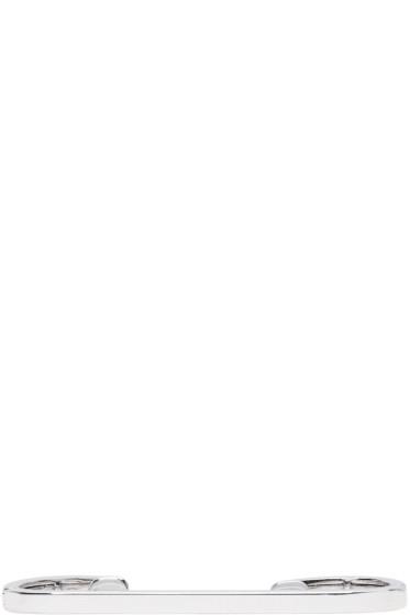 Repossi - ホワイト ゴールド スモール ラウンド ステープル イヤ カフ