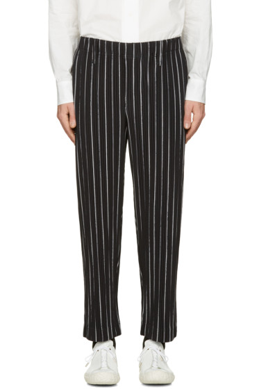 Homme Plissé Issey Miyake - Black Striped Trousers