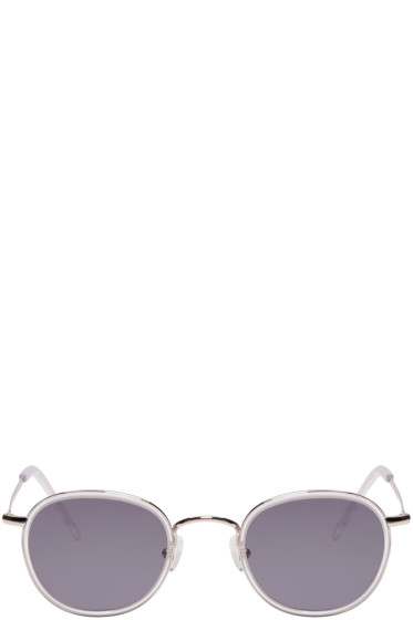 all in - Silver Round Sunglasses