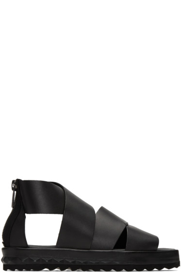 Diesel - Black D-Studz Cross Sandals