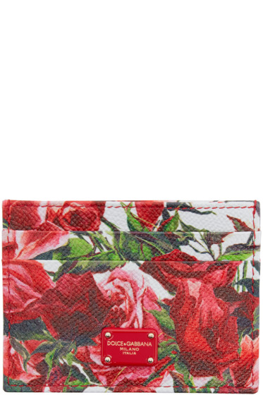 Dolce & Gabbana - Pink Floral Card Holder