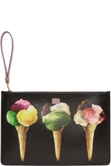 Dolce & Gabbana - Black Gelato Print Zip Pouch
