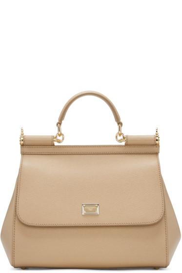 Dolce & Gabbana - Tan Medium Miss Sicily Bag