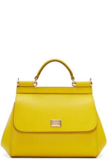 Dolce & Gabbana - Yellow Mini Miss Sicily Bag