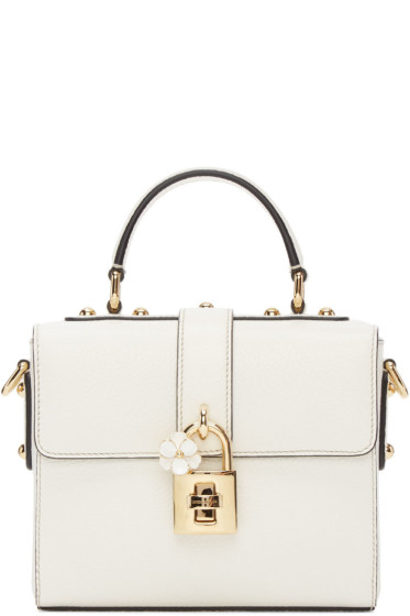 Dolce & Gabbana - White Small 'Dolce Soft' Bag