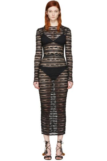 Dolce & Gabbana - Black Stretch Lace Dress