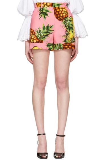 Dolce & Gabbana - Pink Pineapple Shorts