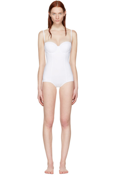 Dolce & Gabbana - ホワイト ワイヤー ワンピース スイムスーツ