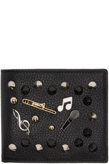 Dolce & Gabbana - ブラック スタッド アンド ピン ウォレット