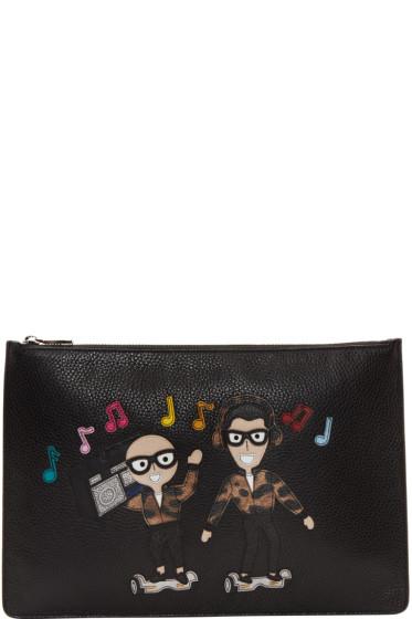 Dolce & Gabbana - Black Designers & Boombox Pouch