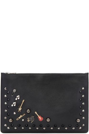Dolce & Gabbana - Black Studs & Pins Pouch