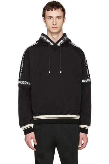 Dolce & Gabbana - Black Logo Hashtag Hoodie