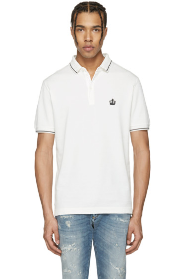 Dolce & Gabbana - Off-White Crown Polo