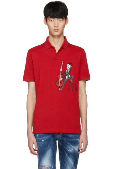Dolce & Gabbana - Red Cello Player Polo