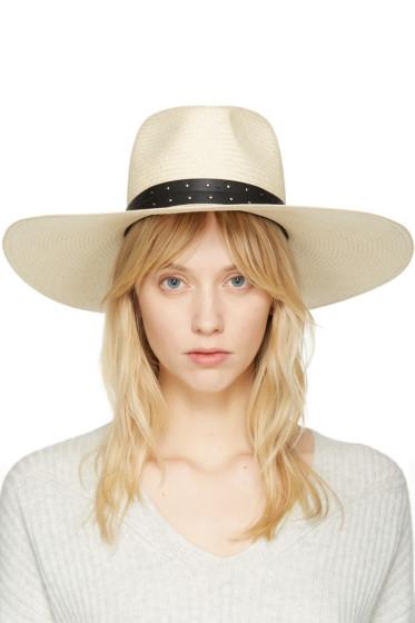Rag & Bone - Beige Wide Brim Panama Hat
