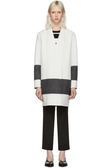 Rag & Bone - White & Black Reversible Elgin Blanket Coat