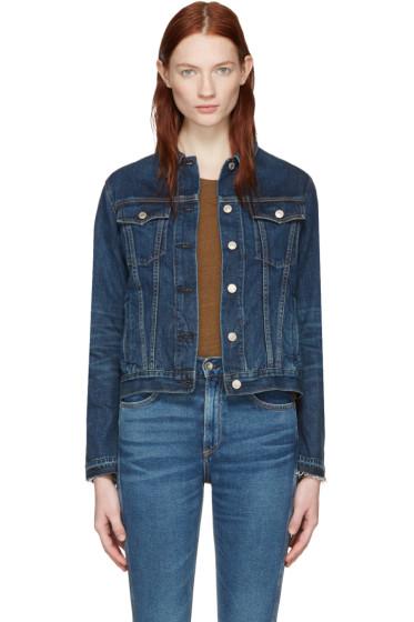 Rag & Bone - Blue Denim Cuffless Jacket