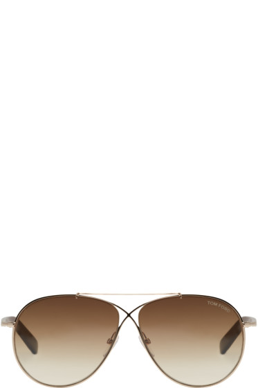Tom Ford - Gold Eva Sunglasses