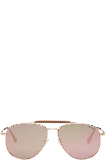 Tom Ford - Gold Sean Aviator Sunglasses