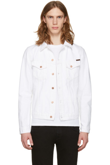 Nudie Jeans - White Billy Worn Denim Jacket